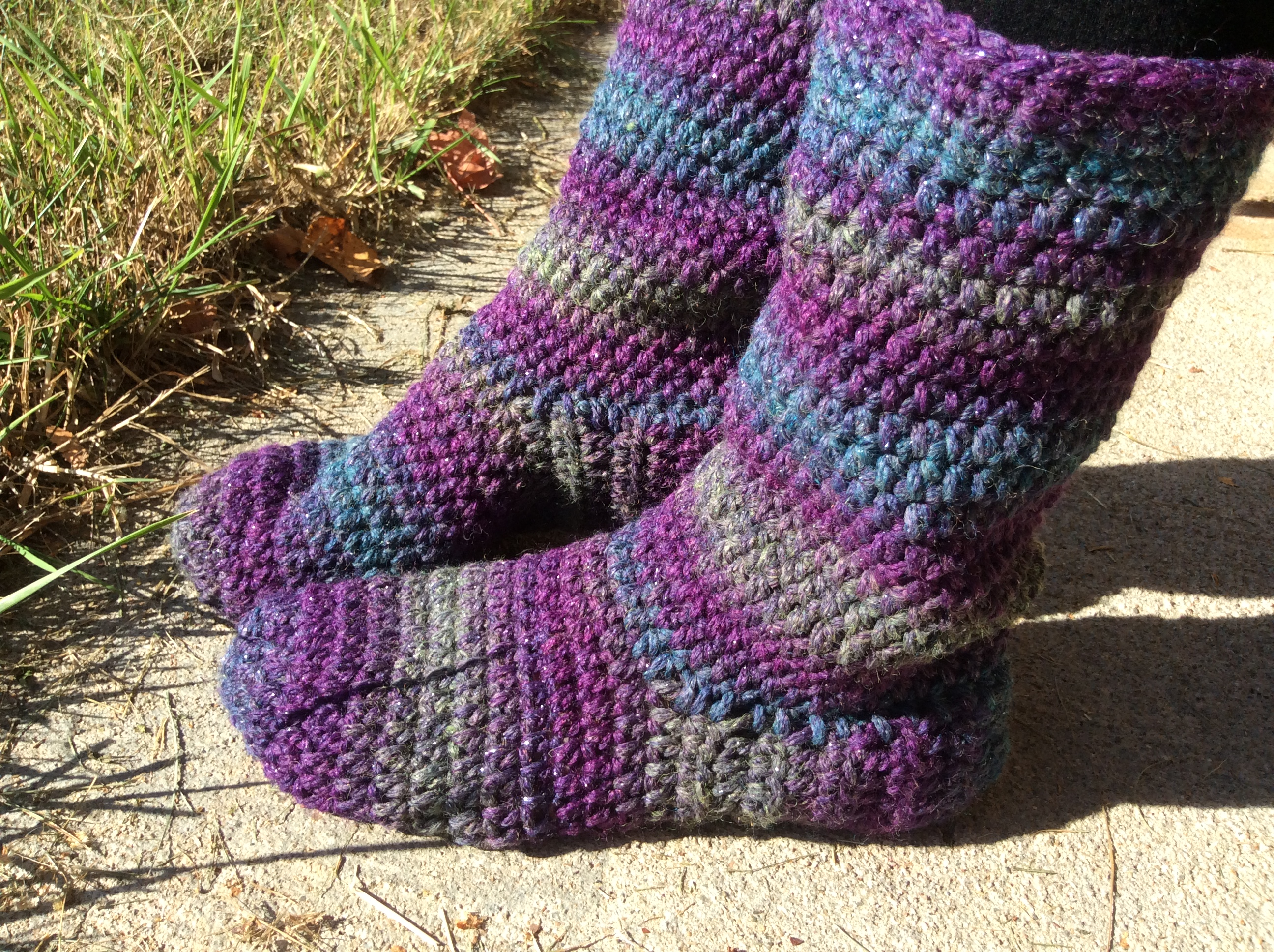 How to make basic crocheted slipper boots updated free pattern in img0349 bankloansurffo Choice Image